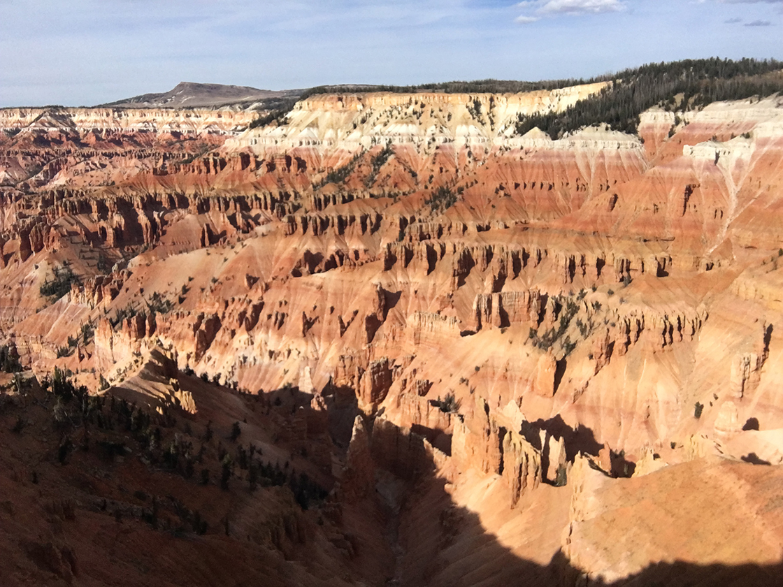 Various rock formations at Cedar Breaks National Park.
